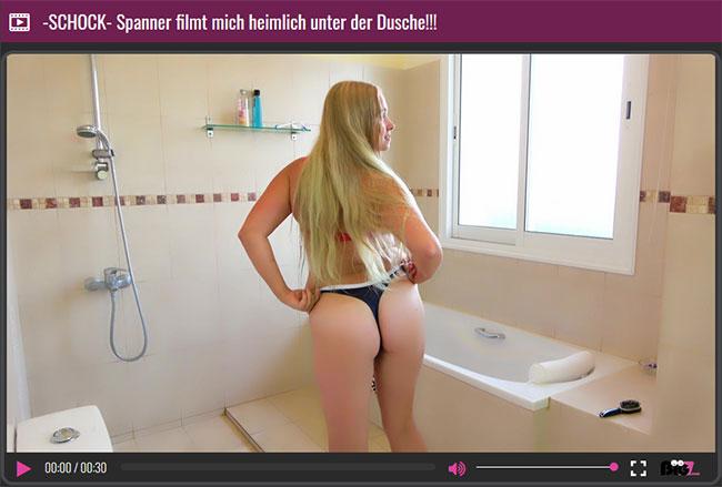 geiles girl nackt beim duschen vom spanner gefilmt
